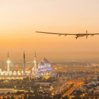 First round-the-world solar-powered flight takes off in Abu Dhabi