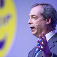 Leader of Britain's anti-EU party says he will step down if fails to win seat