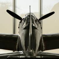 The Mitsubishi Zero Model 52 (A6M5) fighter aircraft is displayed at Yasukuni Shrine in Tokyo on Feb. 20, 2015. | BLOOMBERG