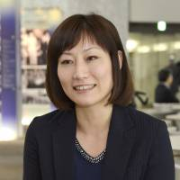 Eri Machii, leader of AfriMedico, speaks of the nonprofit group's campaign to distribute medicine kits to homes in Africa in an interview in Tokyo on Jan. 22. | KYODO