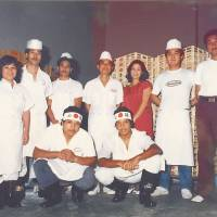 Hidehito Uki (second from right) started Sun Noodle in 1981 in Honolulu to provide fresh ramen at a time when nobody else was. | SUN NOODLE