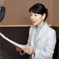 In a recording session, actress Sayuri Yoshinaga reads poems by victims of the Fukushima nuclear crisis. The collection will be released on compact disc March 11. | KYODO