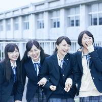 Learning curve: The members of idol group Momoiro Clover Z play aspiring actors in a drama-club in 'Maku ga Agaru (The Curtain Rises).' | © 2015 O.H・K / F・T・R・D・K・P