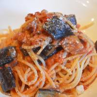 Buon appetito: Spaghetti with aubergine and cured bacon ragu. | J.J. O'DONOGHUE