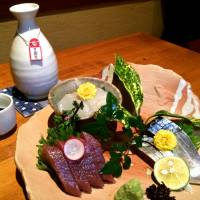 Worth it: Unosato usually offers five kinds of sashimi, which pair perfectly with the high-caliber sake on offer. | ROBBIE SWINNERTON