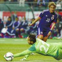 Usami wants to make most of playing time during friendly