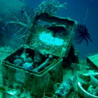 Frozen in time: The wrecks at Chuuk Lagoon contain medical boxes and other reminders of everyday life on board the boats. | MANAMI OKAZAKI