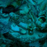 Stumbling across personal items such as footwear during a dive at Chuuk Lagoon, Federated States of Micronesia, can be a little unsettling. | MANAMI OKAZAKI