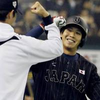 Fight for the future: Tetsuto Yamada is one of the rising stars Japan manager Hiroki Kokubo has turned to with an eye on the 2017 WBC. | KYODO