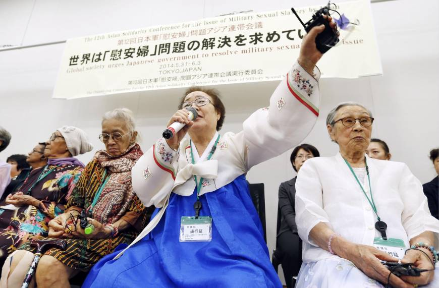 Stance on 'comfort women' undermines fight to end wartime sexual violence