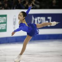 Tuktamysheva takes lead at worlds; Miyahara in third