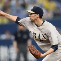 Welcome aboard: The Buffaloes acquired pitcher Bryan Bullington to help them get over the hump this season.   KYODO