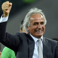Next in line: JFA president Kuniya Daini said Wednesday that former Algeria coach Vahid Halilhodzic has agreed to replace Javier Aguirre as Japan manager. | AFP-JIJI