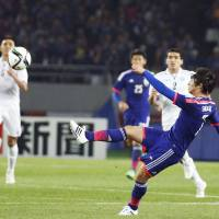 Japan trounces Uzbekistan in friendly