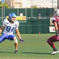 Chance to: Takashi Kurihara, seen in a file photo from 2013 in Kawasaki, was scheduled to participate in the NFL Veteran Combine on Sunday. | KAZ NAGATSUKA