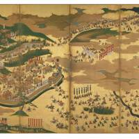 'Battle of Sekigahara on folding screens' (right screen), an Important Cultural Property | COLLECTION OF OSAKA MUSEUM OF HISTORY