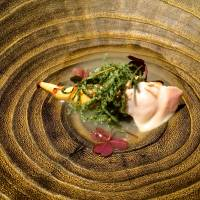A combination of bamboo shoot, hamaguri clam and delicate pasta flecked with wakame seaweed | ROBBIE SWINNERTON