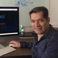 Quoine CEO Mario Gomez Lozada poses in his office in Singapore. | COURTESY OF QUOINE
