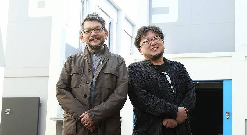 New directions: Hideaki Anno (left), the director of the 'Evangelion' series, is set to lead the new 'Godzilla' film alongside 'Attack on Titan' director Shinji Higuchi.