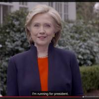 It's official: Clinton declares candidacy, vows to champion everyday Americans