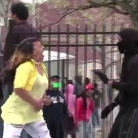 Woman seen slapping teen for rioting in Baltimore cheered as 'Mom of Year'