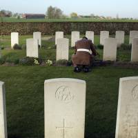 Six British soldiers are reburied a century after dying