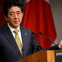 At Harvard, Abe sticks to Kono message when pressed on 'comfort women' issue