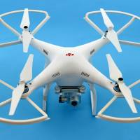 The quadcopter was identified as a Phantom, a popular model made by Chinese firm DJI. A Phantom was also flown onto the grounds of the U.S. White House in January. | KYODO
