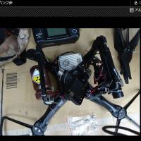 A photo taken from a blog believed to belong to Yasuo Yamamoto, of Obama, Fukui Prefecture, shows a propeller guard being installed on a drone. Yamamoto was arrested on charges of forcible obstruction of business/operations for flying a small drone found earlier this week on the roof of the prime minister's office. According to police, Yamamoto said the stunt was a protest of the government's nuclear energy policy. | GUERILLA47.BLOG.FC2.COM