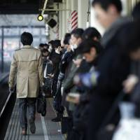 West Japan Railway Co.'s investigation found that only 10 percent of drunken passengers who fell off a train platform had weaved their way along the edge before stepping off. | BLOOMBERG