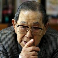Masao Horie, a World War II veteran who served in New Guinea, is interview at his home in Tokyo on March 26. He expressed gratitude for visits by Emperor Akihito to former battlefields such as Palau and Saipan. | REUTERS