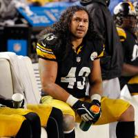 One-club man: Troy Polamalu has retired after 12 seasons in the NFL, all with the Pittsburgh Steelers. | AFP-JIJI