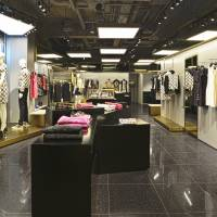 Making a comeback: Fashion label Versace's women's section at the newly opened Versus Versace boutique shop in Tokyo. It is the first directly operated store in Japan since 2009. | COURTESY OF VERSUS VERSACE