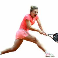 Halep advances after death threat
