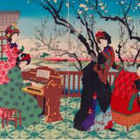 'Singing by the Plum Garden' by Yoshu Chikanobu (1887) Gift of L. Aaron Lebowich, RES. 53.82-4 Photograph | © 2014 Museum of Fine Arts, Boston. All rights reserved