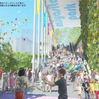 The ward envisions a five-story future for the green space, with the project to be completed in time for the 2020 Olympics. | COURTESY OF SHIBUYA WARD