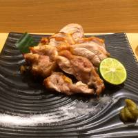 The grilled Daisen-dori chicken at Nurukan Sato comes with a heaped dab of piquant yuzu-kosho green chili-citrus relish.  | ROBBIE SWINNERTON