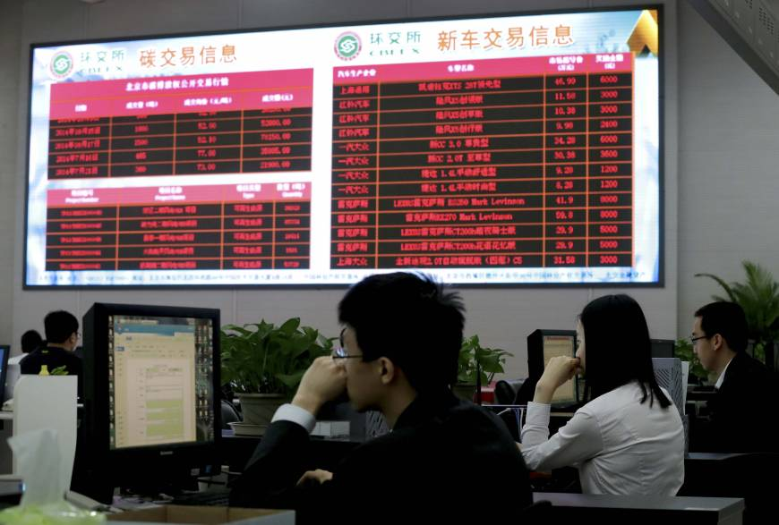 China readies national carbon market to fight climate change