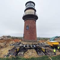 Effort underway to move iconic lighthouse off Massachusetts farther inland