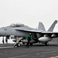 Crew rescued after carrier fighter crashes in Arabian Gulf