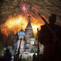 Putin leads WWII victory celebrations in Moscow while Ukraine bristles