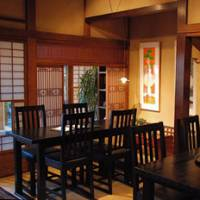 Taste of the past: Stylish chairs and retro-furnishings complement the tatami and shoji screens of Matsubara-an, where traditional soba is matched with Western fare. | ROBBIE SWINNERTON