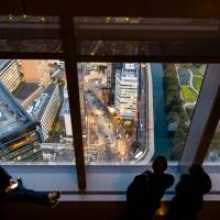 The observation deck on the 46th floor of Caretta Shiodome in Minato Ward is small, but it offers the best view of the Tsukiji district, known for its enormous fish market. | OLGA GARNOVA
