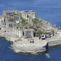 The coal mine on Hashima, better known as Battleship Island, in Nagasaki Prefecture is one of the sites most coveted by ruins fanatics, who revel in exploring abandoned buildings and facilities from bygone days, including hotels, hospitals, schools and factories. | KYODO