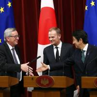 As China tensions loom, Japan, EU vow to seal EPA by year's end