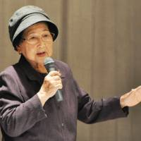 Wartime Okinawa student nurse recalls terror of battle, urges youth to resist militarism