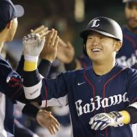 The circle of life: The Lions' Tomoya Mori has gotten off to a strong start. | KYODO