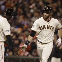 Belt, Heston carry Giants