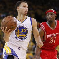 Warriors hold off Harden, Rockets
