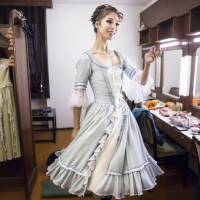 The dance card is full: Shoko Nakamura models a costume for one of her performances.   COURTESY OF THE HUNGARIAN NATIONAL BALLET